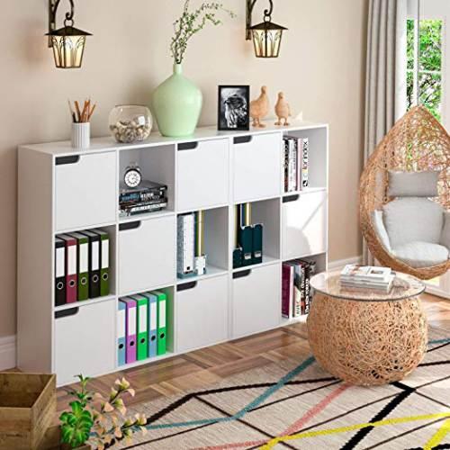 Libreria A 6 Cubi Homfa 3 A Giorno 3 Ante 6