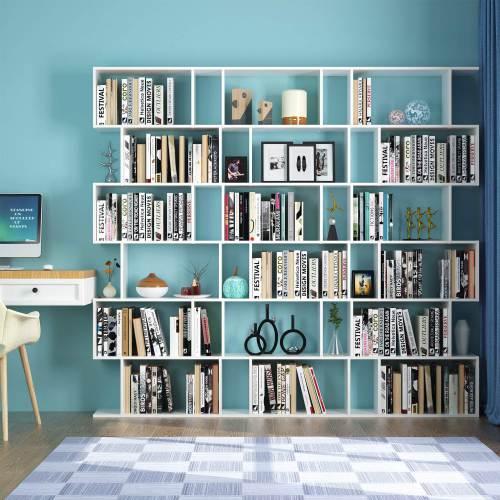 Libreria A Cubi Componibile Homfa Bianca O Nera 7