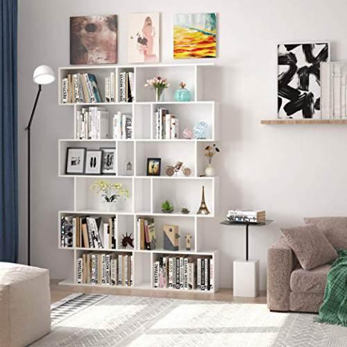 Libreria A Cubi Componibile Homfa Bianca O Nera3