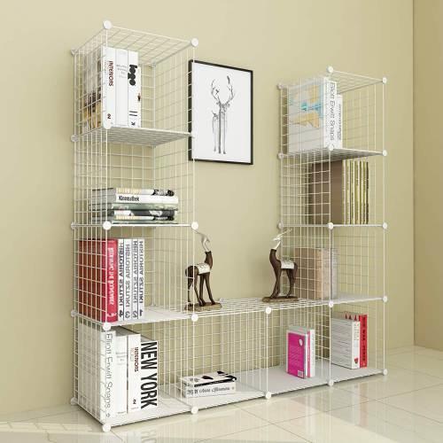 Libreria A Rete In Plastica Bianca O Nera Simpdiy 12 Cubi