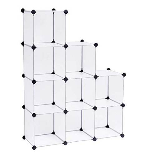 Librerie A Cubo In Plastica Trasparente Songmics 3