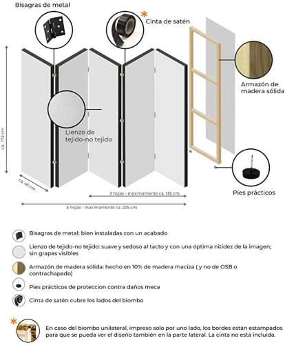 Pannello Paravento Divisorio Ambienti Con Stampa Bilaterale Su Tela 1