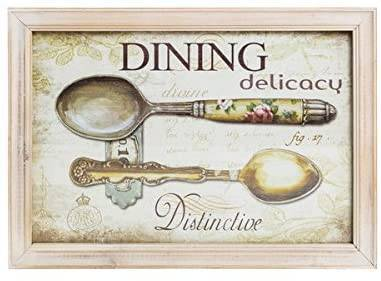 Quadro Shabby Chic Legno Per Cucina Dining 23x33cm Way Home Store