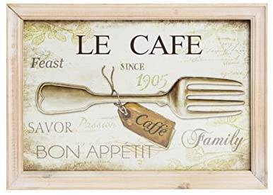 Quadro Shabby Chic Legno Per Cucina Le Cafe 23x33cm Way Home Store