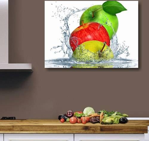 Quadro per cucina Lc Italia Apples Fresh con mela verde e rossa