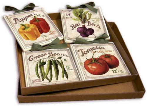 Set Quadretti Country Per Cucina Con Verdure 15x15 Creazioni Antart