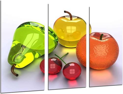 Composizione di frutta renderizzata in 3D