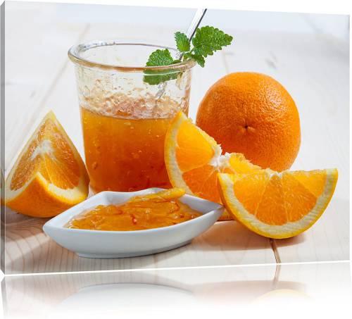 Quadro stampa su tela con arance marmellata e spremuta di arancia