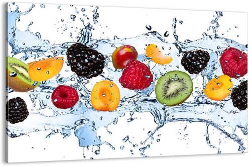 Quadro su tela esplosione di frutta con acqua
