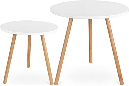 Set 2 Tavolini Rotondi Per Salotto Moderni 1