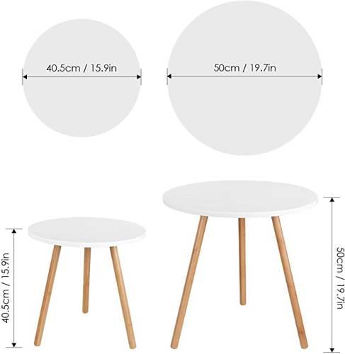Set 2 Tavolini Rotondi Per Salotto Moderni 2