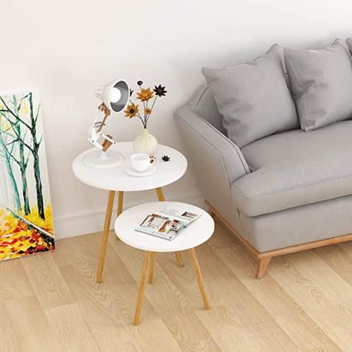 Set 2 Tavolini Rotondi Per Salotto Moderni 3
