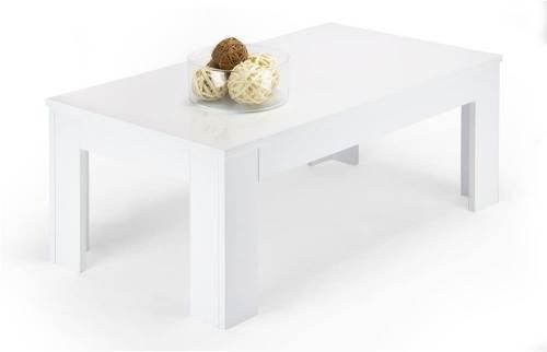 Tavolino Easy Da Salotto Moderno In Legno Bianco Lucido