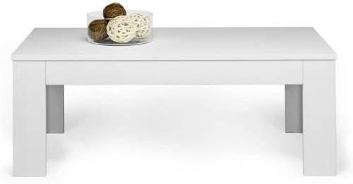 Tavolino Easy Da Salotto Moderno In Legno Frassino Bianco