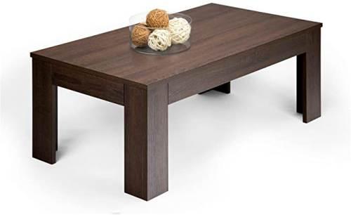 Tavolino Easy Da Salotto Moderno In Legno Rovere Moro 1