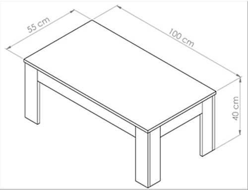 Tavolino Easy Da Salotto Moderno In Legno Rovere Moro 4