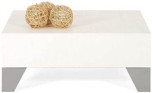 Tavolino Basso Moderno Da Salotto Mobili Fiver Frassino Bianco