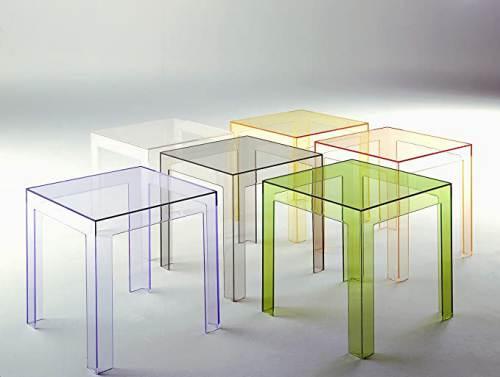 Tavolino Da Salotto Kartell Jolly Trasparente 4