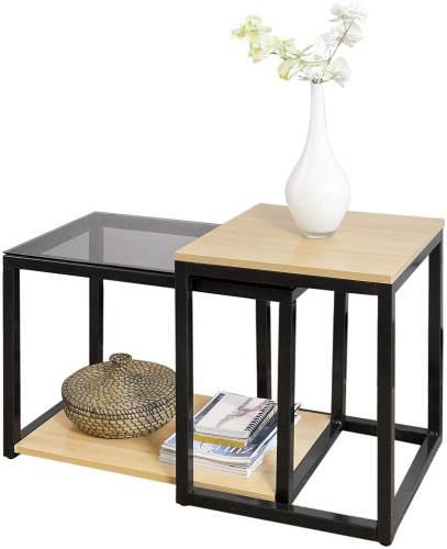 Tavolino Salotto Design Moderno Sobuy 1