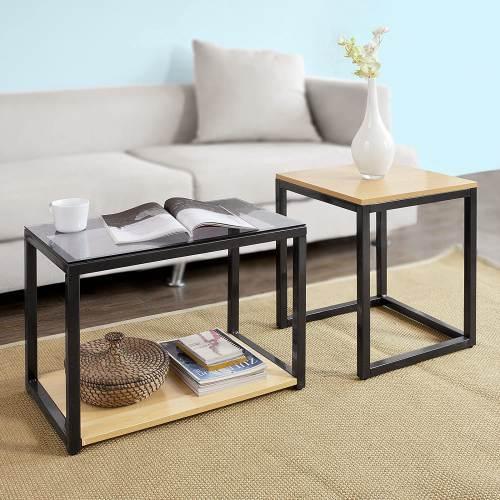 Tavolino Salotto Design Moderno Sobuy 2
