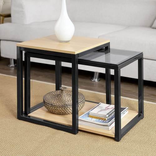 Tavolino Salotto Design Moderno Sobuy 3