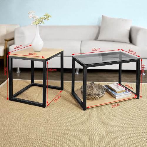 Tavolino Salotto Design Moderno Sobuy 7