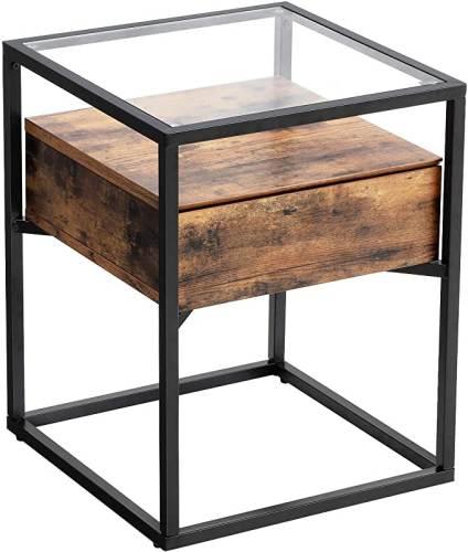 Tavolino Legno E Ferro Vasagle 1