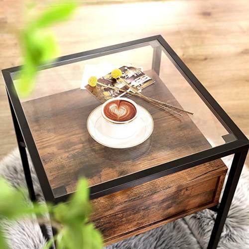 Tavolino Legno E Ferro Vasagle 4