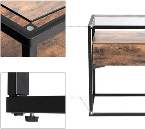 Tavolino Legno E Ferro Vasagle 5