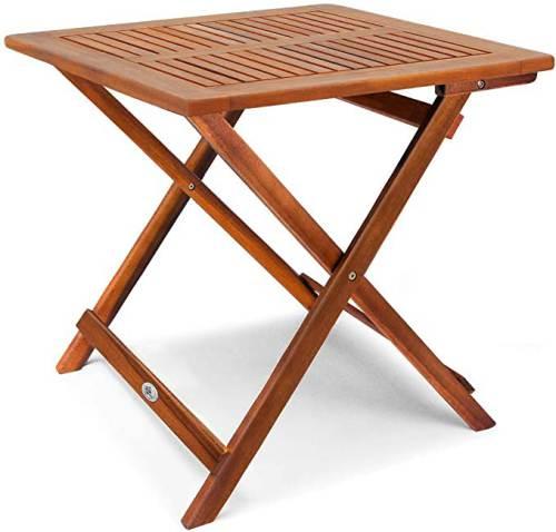 Tavolino Pieghevole In Legno Di Acacia Oliato 1