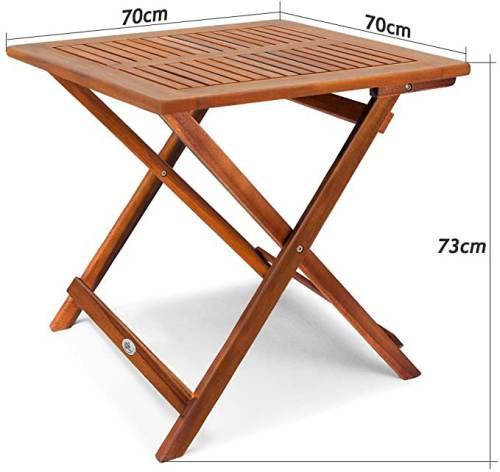 Tavolino Pieghevole In Legno Di Acacia Oliato 2