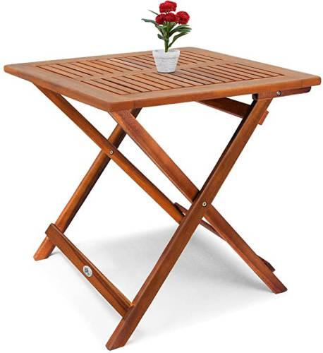 Tavolino Pieghevole In Legno Di Acacia Oliato 5