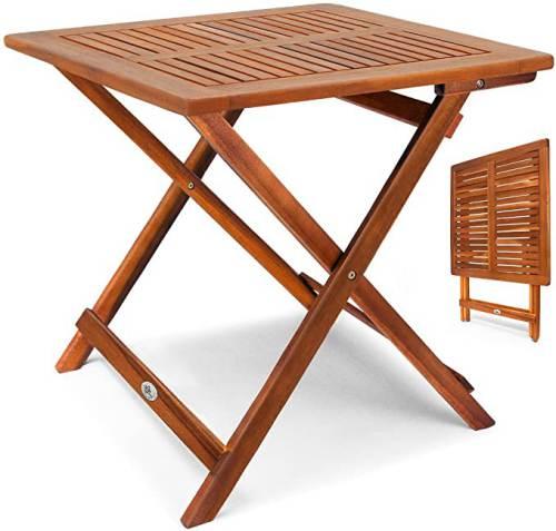 Tavolino Pieghevole In Legno Di Acacia Oliato 6