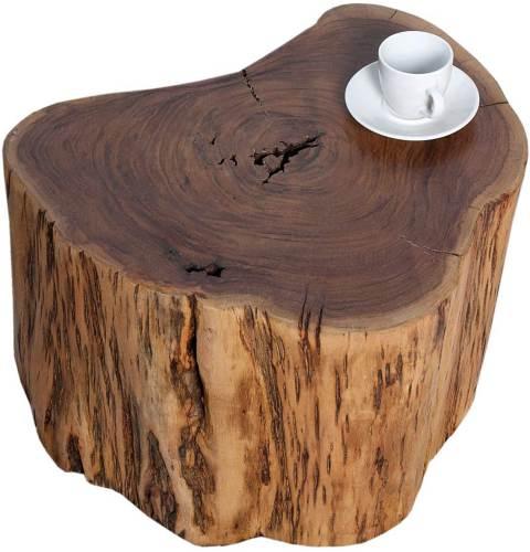 Tavolino Tronco Legno Di Acacia Dunord 2