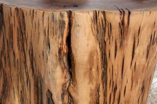 Tavolino Tronco Legno Di Acacia Dunord 4
