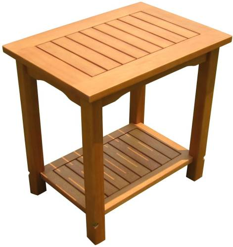 Tavolino Da Giardino In Legno Eucalipto