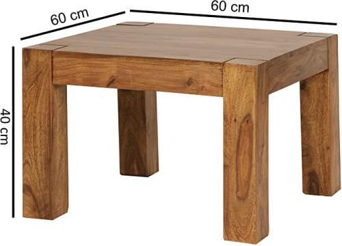 Tavolino In Legno Massello Wohnling 1