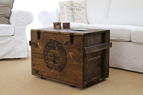 Tavolino Legno Baule Antico 2