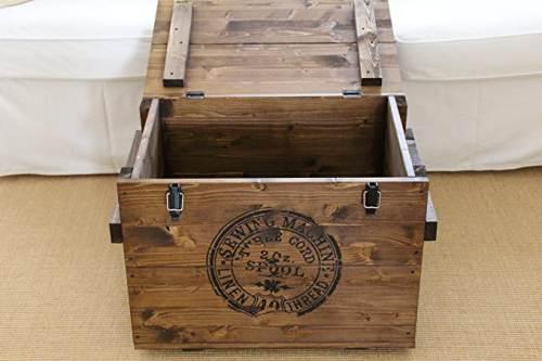 Tavolino Legno Baule Antico 3