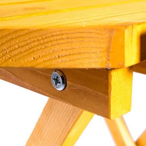 Tavolino Da Giardino Rotondo Pieghevole In Legno 5