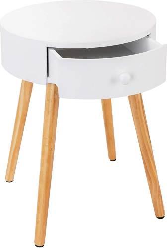 Tavolino Rotondo Piccolo Con Cassetto 4