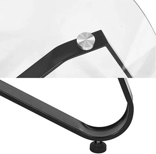 Tavolino Rotondo Vetro Con Base In Ferro 4