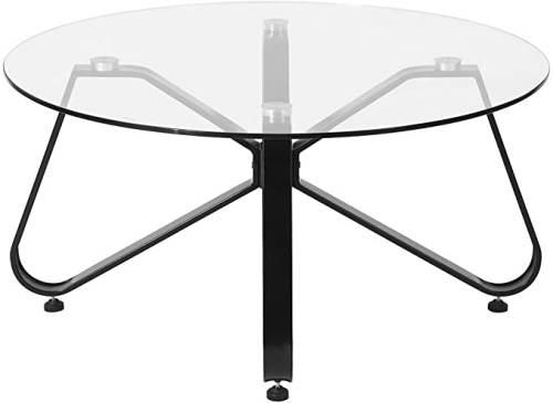 Tavolino Rotondo Vetro Con Base In Ferro 5