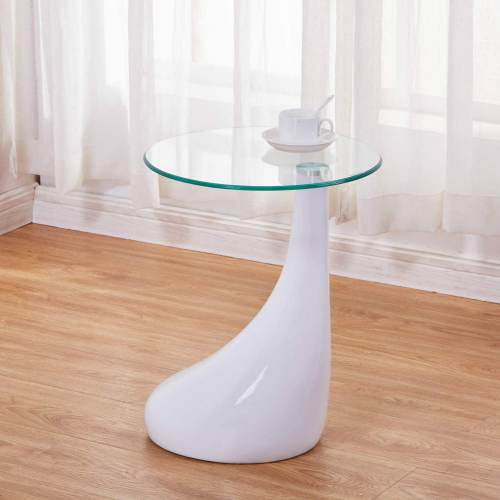 Tavolino Rotondo Moderno Bianco