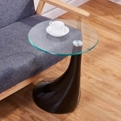 Tavolino Rotondo Moderno Nero 2