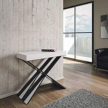 Tavolo consolle allungabile nero e bianco Diago Small by Itamoby