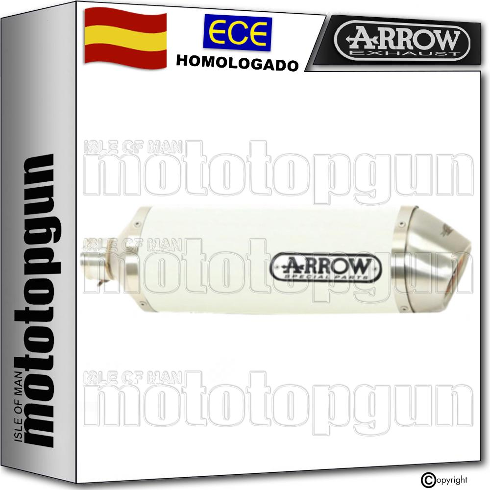 ARROW TUBO ESCAPE OMOLOGADO RACE-TECH ALUMINIO BLANCO KAWASAKI Z 900 E 2018 18