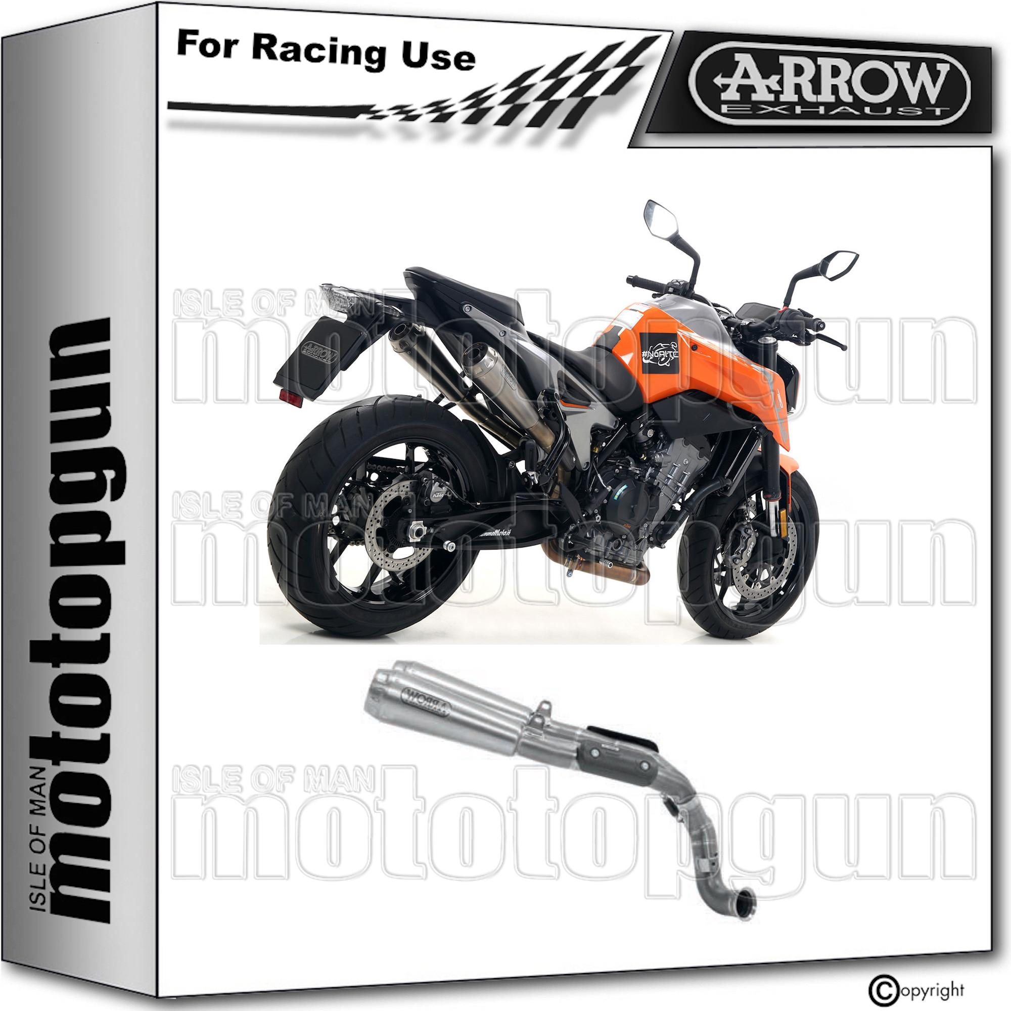 ARROW 2 KIT TUBO DE ESCAPE RACE PRO-RACE KTM DUKE 790 2018 18 2019 19