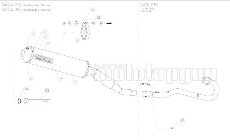 ARROW COLLETTORE NOCAT HONDA XR 125 L 2004 04 2005 05 52001MI