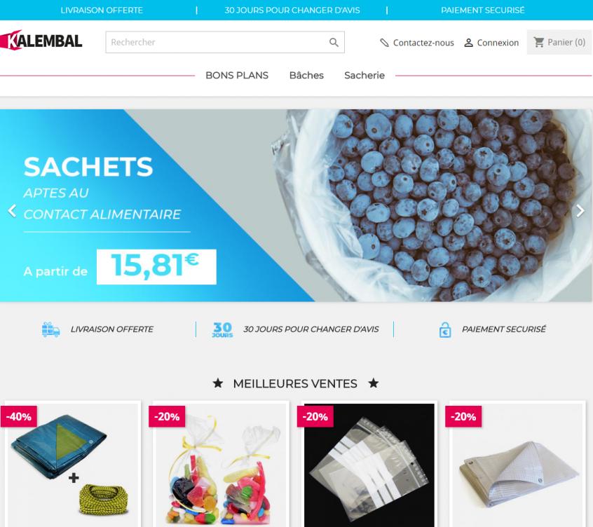 La mise en valeur des produits du site Kalembal.com